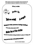 bullying worksheet